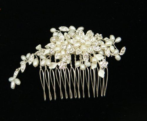 Bridal Handmade Swarovski Crystals With Fresh Water Pearls Hair comb 60160 For wedding 21 Bridal Accessories,http://www.amazon.com/dp/B005516X6O/ref=cm_sw_r_pi_dp_waw1sb1DFVJZ263M