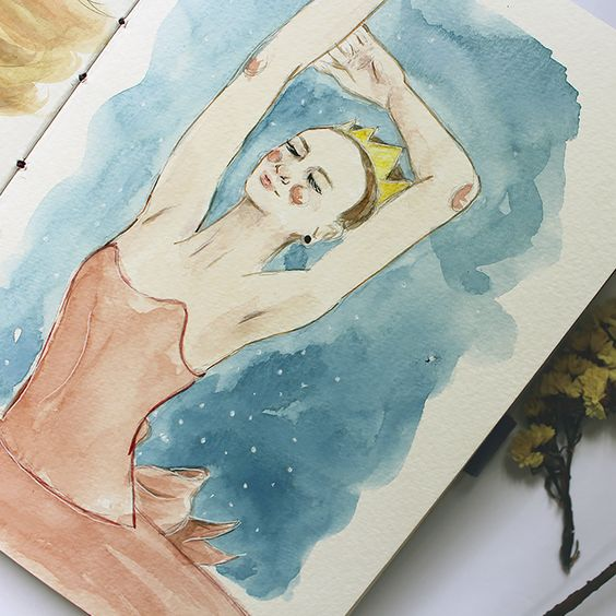 Bailarina by Camila Averbeck Ilustrações. www.camilaaverbeck.com.br: