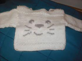 Joias de trapos: Conjunto camisola e calças para bebé em tricot