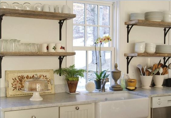 Having had open shelving in my kitchens, I cannot recommend it enough!