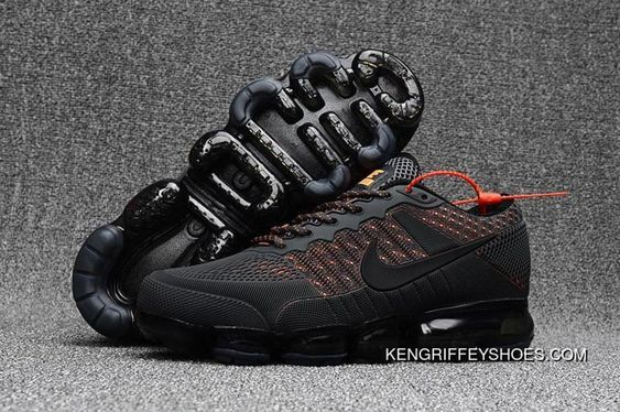 price reduced factory outlets get cheap Men's Nike Air Vapormax Flyknit 2018 Anthracite Grey Orange New ...