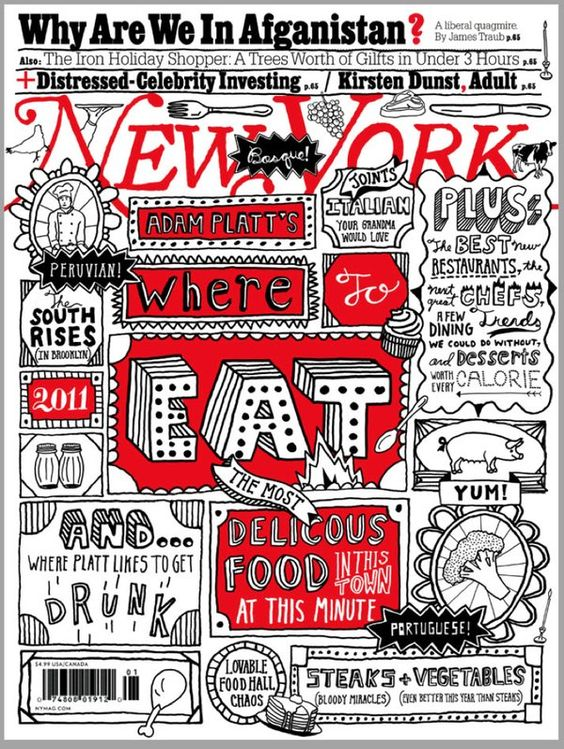 timothy goodman NY Magazine: Where to Eat: Cover illustration & typography   @NYCxDESIGN  via @tartanbaffies
