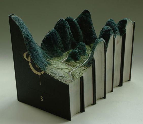 Carved Book Landscapes: