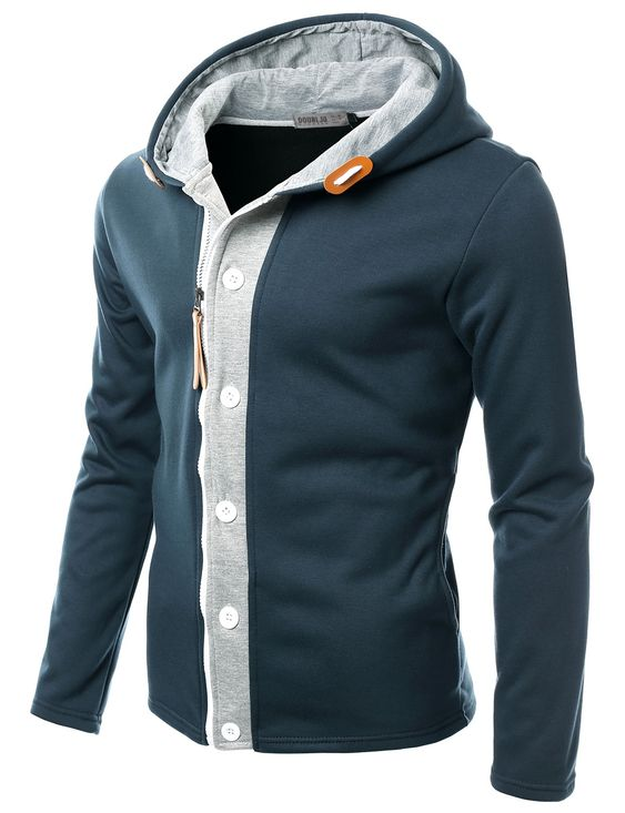 Mens Layered Hoodie Jacket #doublju