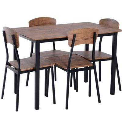 Union Rustic Castellanos Modern 5 Piece Counter Height Dining Set