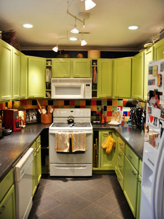 colorful kitchen decorating ideas | ... and Colorful Kitchen Design Ideas : Colorful Lime Green Kitchen Ideas