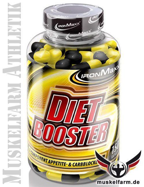 IronMaxx Diet Booster Komplex enthält Weiße Kidneybohnen-, Garcinia Cambogia-, Bockshornklee-, Bittermelonen-, Zimt-Extrakt, L-Tyrosin und Chrom. #diet #diät #abnehmen http://www.muskelfarm.de/ironmaxx-diet-booster-p-8085.html