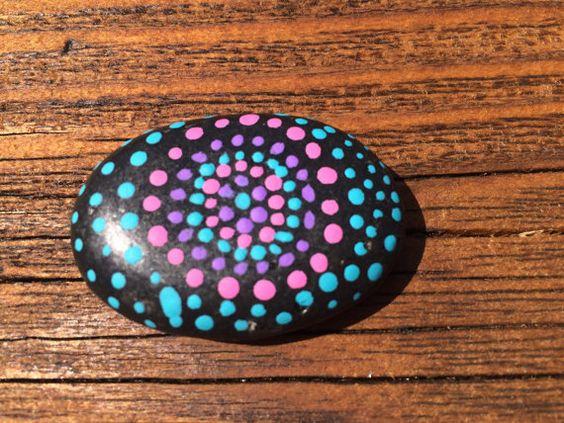 dot painted rock by RtsyfrtsyCo on Etsy