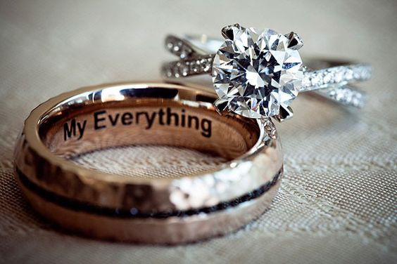 Engraving grooms ring -- this is perfect :) We are thinking of doing something like this! So exciting <3 Can't wait to pick out our bands!