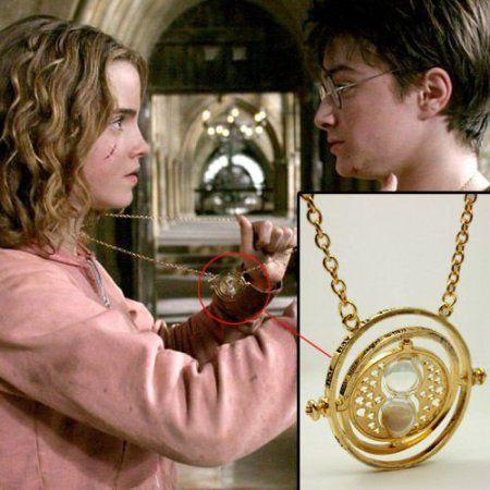 Bijoux Harry Potter. Hermione Granger or ton Horcruxe tourner retourneur de temps et d'or filer Collier Reliques de la Mort –