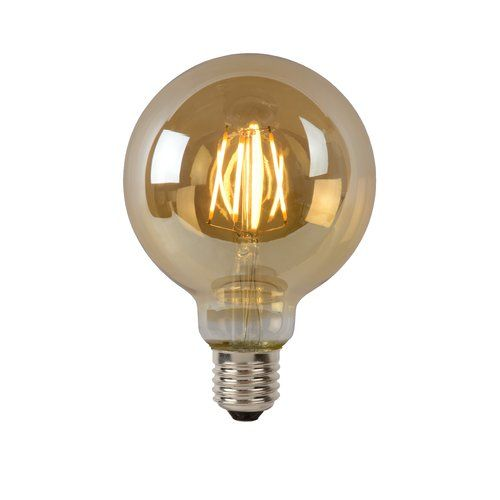 Led E27 Lucide Colour Amber Wattage 5 Vintage Light Bulbs