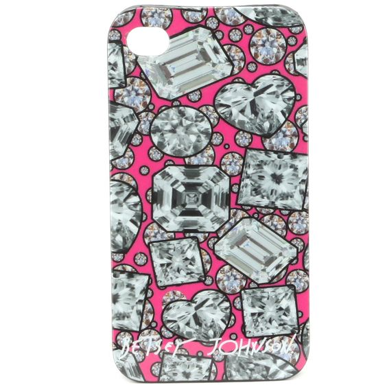Betsey Johnson iPhone 4 Case-Pink. Diamonds are a girls best friend. I want this case!