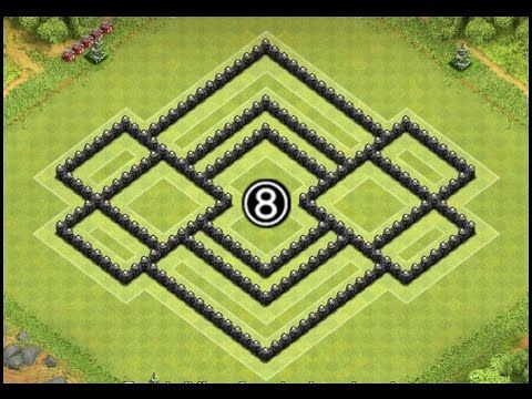 clash of clans th8 base after update