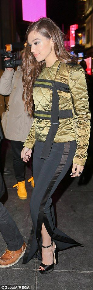 Give green a go in David Koma like Hailee #DailyMail Click to buy now