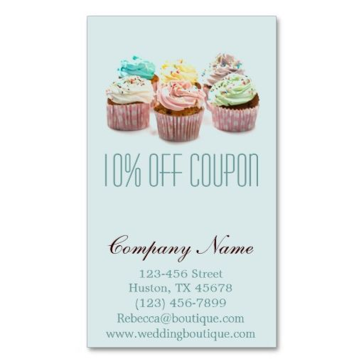 Cute Bakery Business Card \ Coupon Bakery business cards, Bakery - blank coupons templates