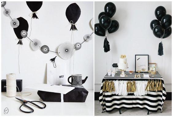 Festa preto e branco: