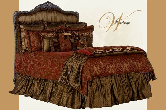 Alternate Color Background of Westbury Bedset from Reilly-Chance Collections Luxury Bedding Manufacturers