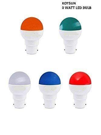 Kotsun 0 Watt Led Bulb B22 Base Master 5in1 Multi Colour Auto Change Led Pack Of 5 Red Blue White Green Yellow By Kotsun Http Led Bulb Bulb Multi Color