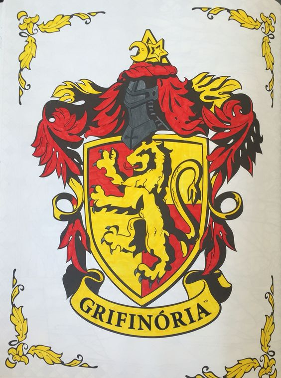 Grifinória! #colorterapia #hp #harrypotter