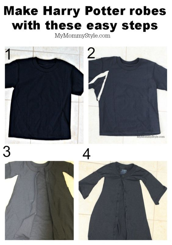 Step by step, diy, harry potter robes, easy harry potter robes, mymommystyle.com