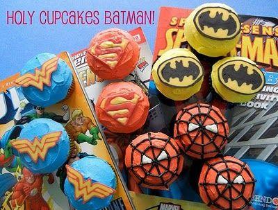 Superhero cupcake tutorial