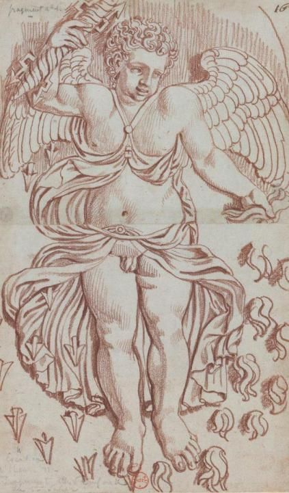 En 1803, Louis-Pierre Baltard réalise une série de dessins au Palais du Louvre: à la sanguine, il reproduit les ornements sculptés des façades et des plafonds. Cette série de dessins, achetée par le collectionneur Destailleurs est aujourd'hui conservée à la Bibliothèque nationale de France et numérisée sur Gallica. Curieuse, j'ai profité d'un samedi après-midi pour …