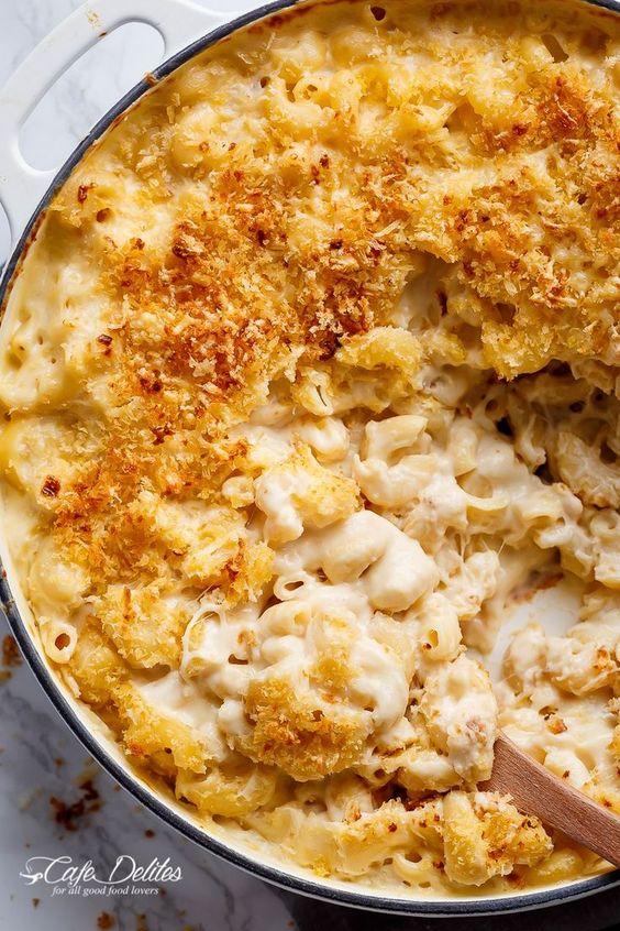 Garlic Parmesan Mac And Cheese is better than the original! A creamy garlic…