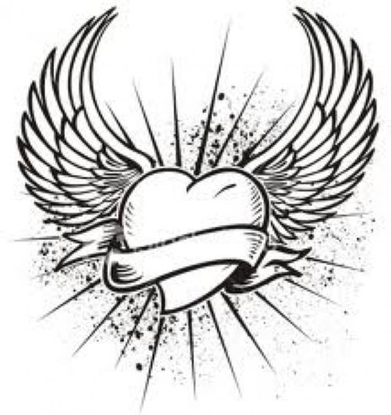 Heart with Wings Tattoo Designs | Originally posted by vicky_stirling