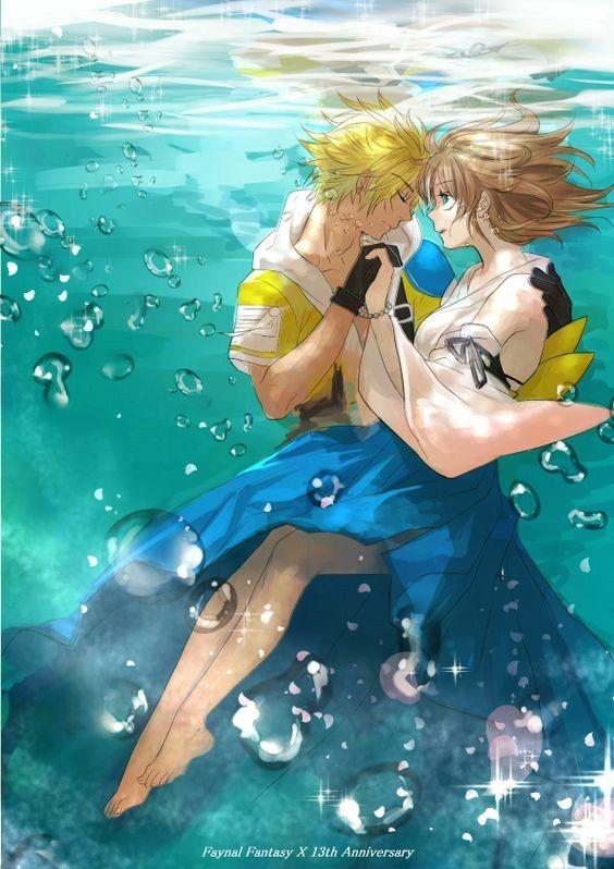 海に潜る二人