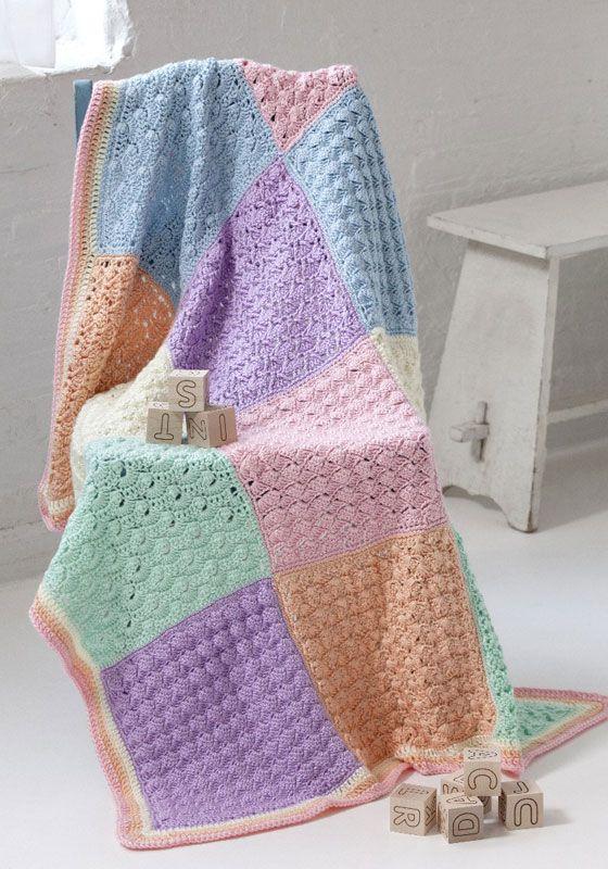 Free Pattern Sampler Squares Baby Blanket Crochet LOVE ...