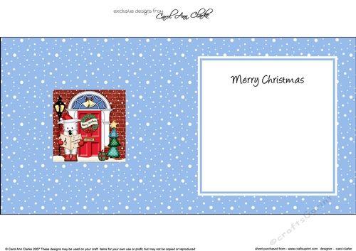 Westie Dog Christmas Door 3D Decoupage by Carol Clarke