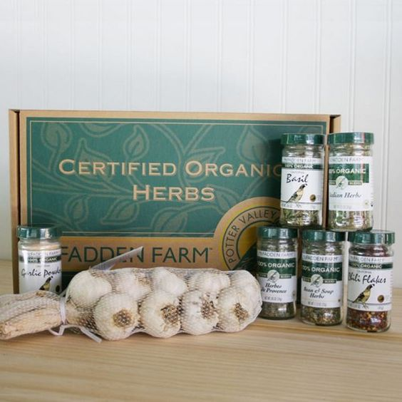 Organic Herb and Garlic Gift Box  $55