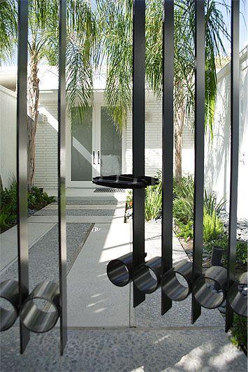 Mid Century Modern Iron Entrance Gate Palm Springs Mid