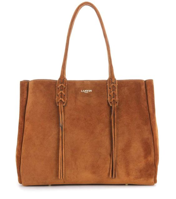 LANVIN Shia Small Suede Shopper. #lanvin #bags #hand bags #suede #lining #