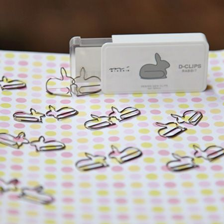 bunny paperclips