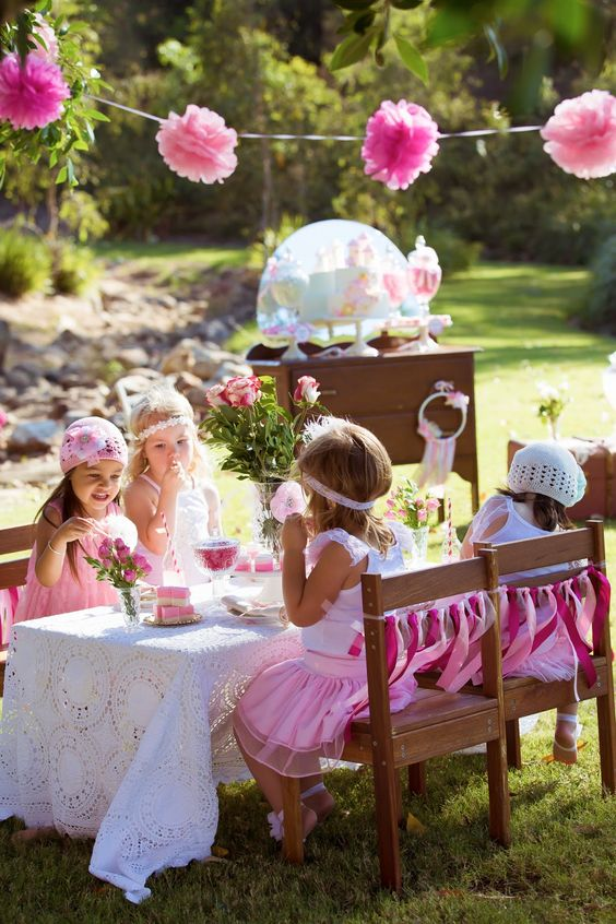 Party Inspirations: Vintage Princess Tea Party by Memories are Sweet - Lolly Buffets:
