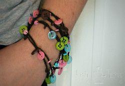 Simple crochet bracelet...