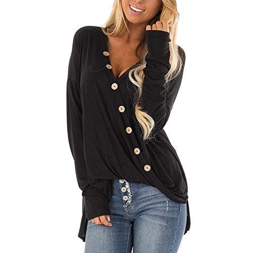 Franterd Women Solid Botton Design Shirt Fashion Long Sleeve