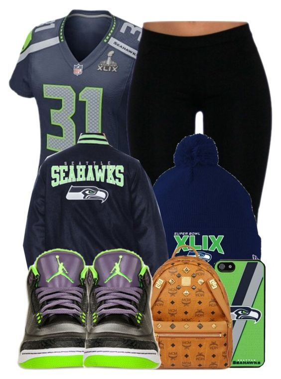 """Seattle Seahawks"" by perfectlyjayx ❤ liked on Polyvore featuring NIKE, Retrò and MCM"