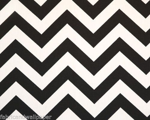 Black & White Chevron Fabric Zig Zag Print Curtain Fabric | eBay ...