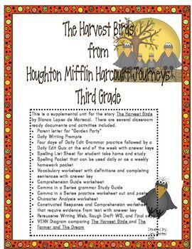 Houghton Mifflin Harcourt Journeys 2014 Grade 3 The Harvest Birds