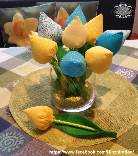 Selbst genähte (Stoff-)Tulpen