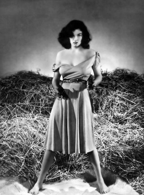 Jane Russell in a publicity photo for The Outlaw, 1943.