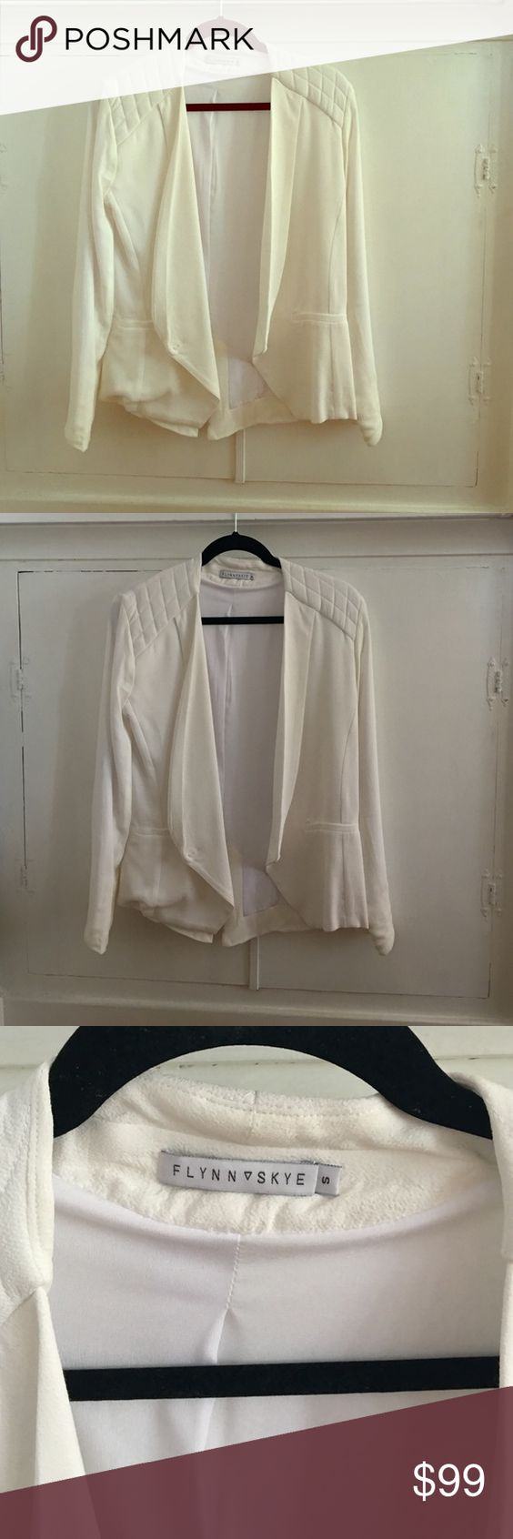 BNWOT Flynn Skye White Summer Blazer S This is in perfect condition, brand new, and amazing. Please see my closet policies. Thanks! Flynn Skye Jackets & Coats Blazers