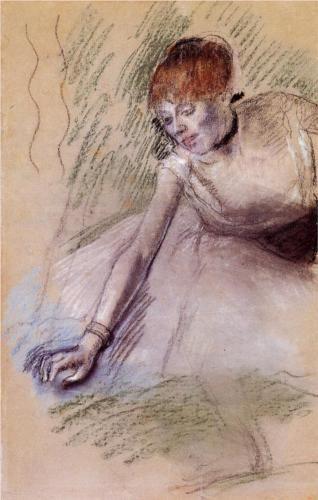 Bowing Dancer - Edgar Degas