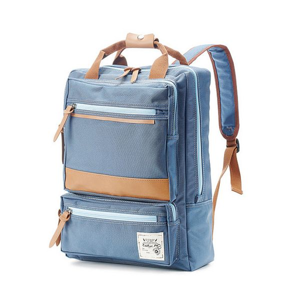 Stylish light weight backpack using sturdy fabric.  Inner compartment for laptop.  Use for school bag and for work  Shoulder Strap included    color :