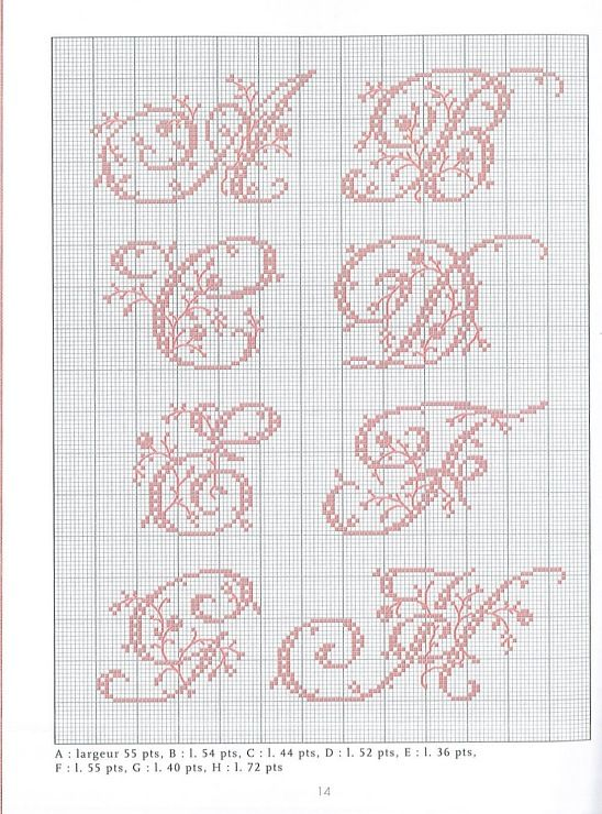 Litt rature belle and points de couture on pinterest - Apprendre a broder des lettres ...