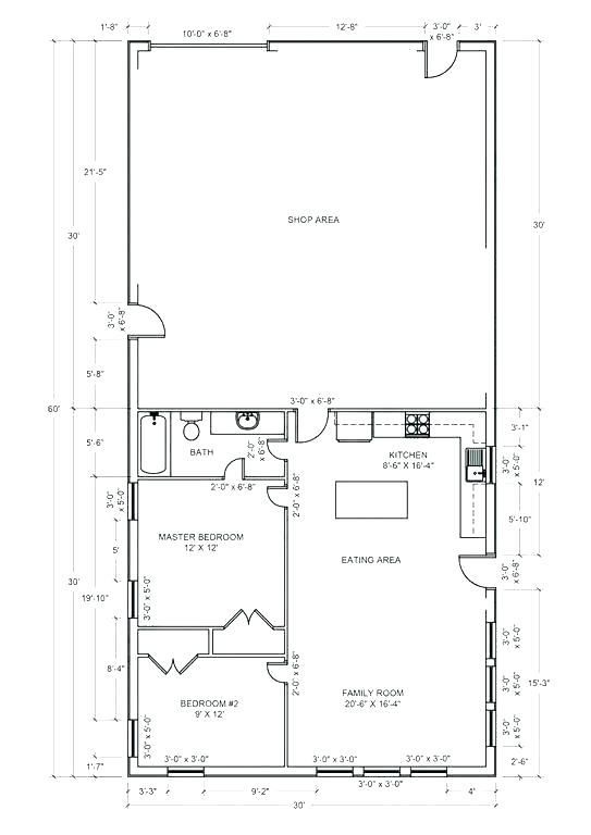 Inspirational Pole Barn With Living Quarters Plans Pole Barn House Plans Barn House Plans Shop House Plans