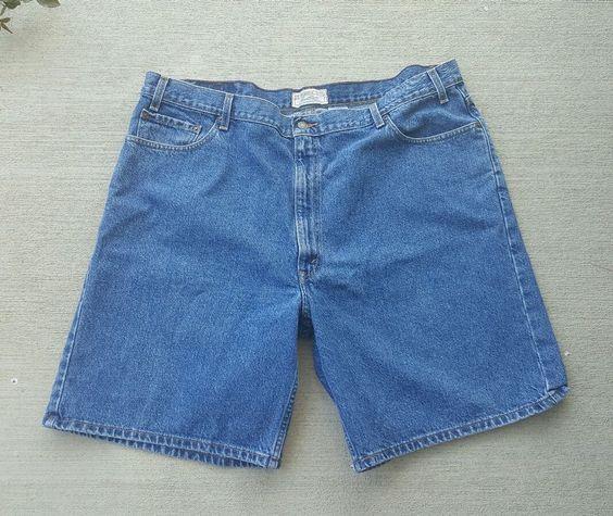 Levi Strauss Signature Men's Shorts Blue Jean Shorts 100% Cotton Size 46 #LeviStraussSignature #CasualShorts