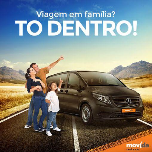 Viajar em família é tudo de bom! <3   Com o Mercedes Benz Vito, você leva a família para viajar com conforto e toda a comodidade que eles merecem. Faça a sua reserva: www.movida.com.br
